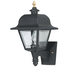 Wave Lighting Marlex Saxony Black Outdoor Wall Light