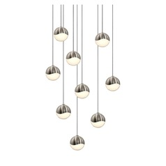 Sonneman Grapes Satin Nickel 9 Light LED Multi-Light Pendant