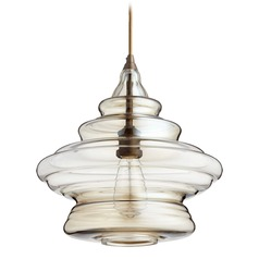 Art Deco Pendant Light Oiled Bronze by Quorum Lighting