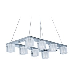 Blocs LED Polished Chrome LED Island Light with Square Shade