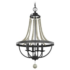 Feiss Lighting Nori Dark Weathered Zinc / Driftwood Grey Mini-Chandelier