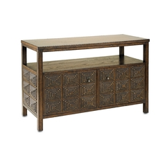 Currey and Company Lighting Sofa Table in Blackened Tramp Finish 3128