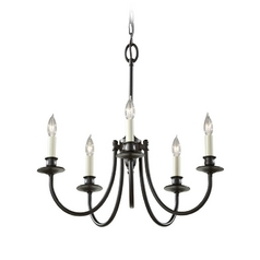 Murray Feiss Import Co. Candlestick Chandelier Light with Five Lights - 21-Inches Wide F2760/5ORB