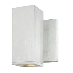 Square Cylinder Outdoor Wall Light Brushed Aluminum