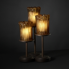 Justice Design Group Veneto Luce Collection Dark Bronze Table Lamp with Cylindrical Shade