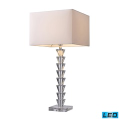 Dimond Lighting Clear Crystal LED Table Lamp with Square Shade