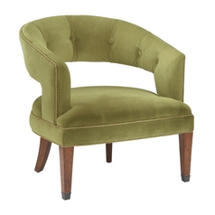 Sterling Lighting Moss Green Velvet Chair