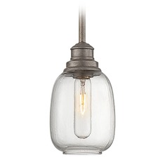 Savoy House Industrial Steel Mini-Pendant Light with Bowl / Dome Shade