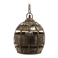 Round Fortress Pendant Light