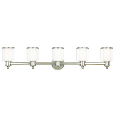Livex Lighting Middlebush Polished Nickel Bathroom Light
