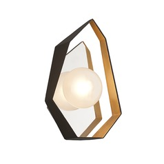 Art Deco LED Sconce Bronze / Gold Leaf Origami by Troy Lighting