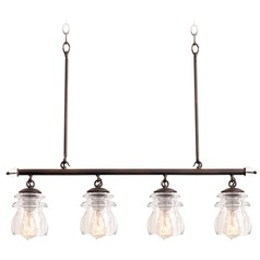 Kalco Lighting Brierfield Pearl Silver Island Light with Urn Shade