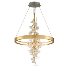 Corbett Lighting Jasmine Gold Leaf LED Pendant Light 2700K 5292LM