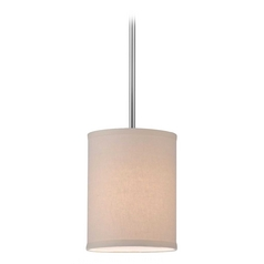 Design Classics Lighting Chrome Mini-Pendant Light with Cream Drum Shade  DCL 6542-26 SH7484