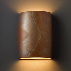 Sconce Wall Light in Tierra Red Slate Finish