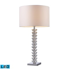 Dimond Lighting Clear Crystal LED Table Lamp with Drum Shade