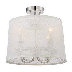 Crystorama Lighting Culver Polished Nickel Semi-Flushmount Light
