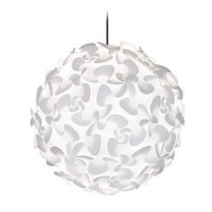 UMAGE Black Plug-In Swag Pendant Light with Globe Shade