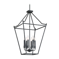 Lodge / Rustic / Cabin Pendant Light Black Hammerton by Quoizel Lighting
