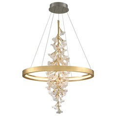 Corbett Lighting Jasmine Gold Leaf LED Pendant Light 2700K 6768LM