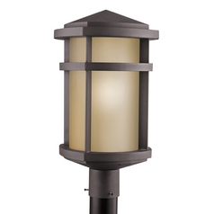 Kichler Post Light in Architectural Bronze Finish