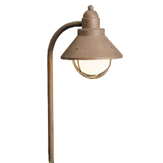 Kichler Lighting Landscape Path Light in Olde Brick Finish with White Glass 15239OB