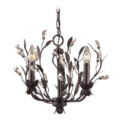 Mini-Chandelier in Deep Rust Finish