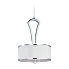 Maxim Lighting Metro Chrome Mini-Pendant Light with Drum Shade