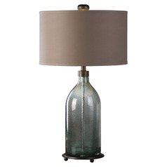 Uttermost Massana Grey Glass Table Lamp