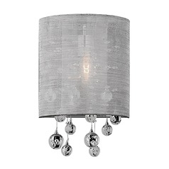 Kuzco Lighting Modern Chrome Sconce with Silver Shade