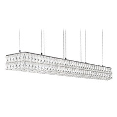 Crystal Chrome LED Pendant with Clear Shade 4000K 5500LM