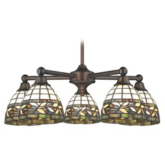 Design Classics Gastown Fuse Neuvelle Bronze Chandeliers with Bowl / Dome