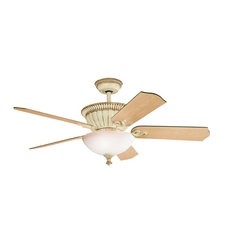 Kichler Lighting Larissa Aged White Ceiling Fan with Light
