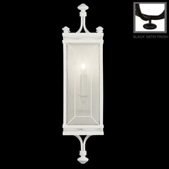 Fine Art Lamps Black + White Story Black Satin Lacquer Sconce