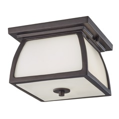 Feiss Lighting Wright House Oil Rubbed Bronze LED Close To Ceiling Light