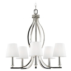 Feiss Lighting Pave Polished Nickel Chandelier