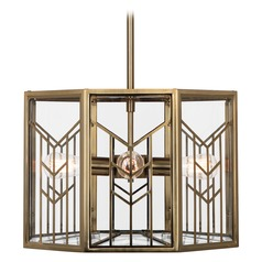 Industrial Pendant Light Brass Octavius by Robert Abbey