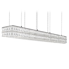Crystal Chrome LED Pendant with Clear Shade 4000K 9100LM