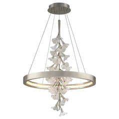 Corbett Lighting Jasmine Silver Leaf LED Pendant Light 2700K 5292LM