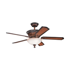 Kichler Lighting Larissa Mediterranean Walnut Ceiling Fan with Light