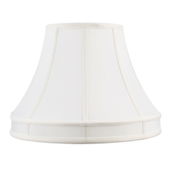 White Bell Lamp Shade with Spider Assembly