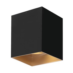 Black / Gold Haze LED Flushmount Ceiling Light by Tech Lighting