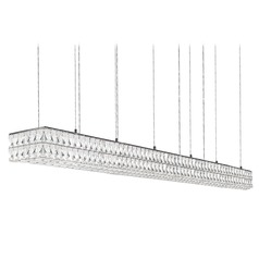 Crystal Chrome LED Pendant with Clear Shade 4000K 11000LM