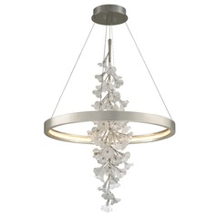 Corbett Lighting Jasmine Silver Leaf LED Pendant Light 2700K 6768LM