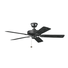 Kichler Ceiling Fan Without Light in Satin Black Finish