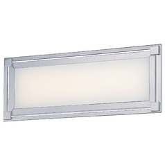 George Kovacs Framed Chrome LED Bathroom Light