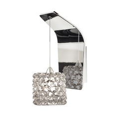 WAC Lighting Mini Haven Chrome LED Sconce