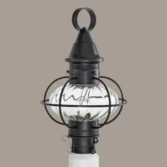 Prismatic Glass Post Light Black Norwell Lighting