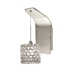 WAC Lighting Mini Haven Brushed Nickel LED Sconce