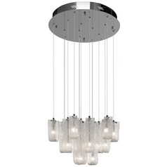 Elan Lighting Zanne Chrome Pendant Light with Bell Shade